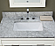 "Xylem Manhattan 24"" Contemporary Bathroom Vanity White Top"