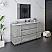 "60"" Floor Standing Single Sink Modern Bathroom Cabinet w/ Top & Sink in Ash"