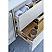 "60"" Wall Hung Single Sink Modern Bathroom Cabinet w/ Top & Sink in Rustic White"