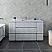 """60"""" Floor Standing Single Sink Modern Bathroom Cabinet w/ Top & Sink in Rustic White"""