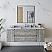 "60"" Wall Hung Single Sink Modern Bathroom Cabinet w/ Top & Sink in Ash"