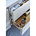 """54"""" Wall Hung Modern Bathroom Cabinet w/ Top & Sink in Rustic White"""