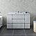 "54"" Floor Standing Modern Bathroom Cabinet w/ Top & Sink in Rustic White"