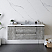"54"" Wall Hung Modern Bathroom Cabinet w/ Top & Sink in Ash"