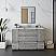 "54"" Floor Standing Modern Bathroom Cabinet w/ Top & Sink in Ash"