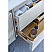 """48"""" Wall Hung Modern Bathroom Cabinet w/ Top & Sink in Rustic White"""