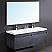 Fresca Largo Black Modern Bathroom Vanity