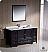 "Fresca Oxford 60"" Traditional Bathroom Vanity Espresso Finish"
