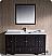 "Fresca Oxford 60"" Traditional Bathroom Vanity"