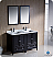 "Fresca Oxford 48"" Double Sink Bathroom Vanity Mahogany Finish"