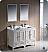 "Fresca Oxford 48"" Double Sink Bathroom Vanity Antique White Finish"