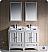 "Fresca Oxford 48"" Double Sink Bathroom Vanity White Finish"