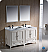"Fresca Oxford 60"" Double Sink Bathroom Vanity Antique White Finish"