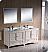 "Fresca Oxford 72"" Double Sink Bathroom Vanity Antique White Finish"