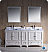 "Oxford 72"" Double Sink Bathroom Vanity Antique White Finish"