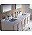 "Oxford 72"" Bathroom Vanity Antique White Finish"