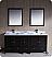 "Oxford 72"" Bathroom Vanity Espresso Finish"