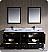 "Oxford 72"" Double Traditional Bathroom Vanity Espresso Finish"