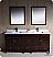 "Oxford 72"" Double Sink Bathroom Vanity Mahogany Finish"
