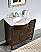 "Silkroad 38"" Traditional Bathroom Vanity Espresso Finish"