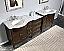 "Silkroad 95"" Modular Bathroom Vanity Espresso Finish"