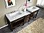 "Silkroad 92"" Moduler Bathroom Vanity Espresso Finish"