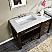 "Silkroad 56"" Moduler Bathroom Vanity Espresso Finish"
