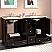Silkroad 60 inch Naomi Double Sink Bathroom Vanity Dark Walnut Finish