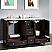 Silkroad 60 inch Naomi Double Bathroom Carrara Marble Top