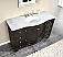 Silkroad 55 inch Single Bathroom Vanity Carrara White Marble Top