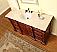 Silkroad 62 inch Antique Bathroom Vanity English Chestnut Finish