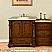 Silkroad 56 inch Antique Bathroom Vanity Roman Vein-Cut Travertine Top