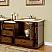 Silkroad 56 inch Antique Bathroom Vanity Roman Cut Travertine Top