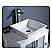 """Fresca Torino 24"""" White Vessel Sink Vanity"""