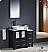 "Fresca Torino 36"" Espresso Modern Bathroom Vanity with Side Cabinet"