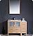 Fresca Torino 42 inch Light Oak Modern Bathroom Vanity