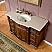 Silkroad Antique 48 inch Bathroom Single Vanity Chestnut Finish