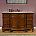 Silkroad Exclusive 60 inch Bathroom Single Sink Vanity Chestnut Finish