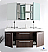 Fresca FVN8013GO Opulento 54 Inch Gray Oak Double Bath Vanity