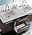 Fresca FVN8013GO Opulento 54 Inch Modern Double Bathroom Vanity