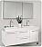Fresca FVN8013GO Opulento 54 Inch White Modern Double Bathroom Vanity