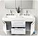 Fresca FVN8013GO Opulento 54 Inch White Double Bathroom Vanity