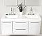 Fresca FVN8013GO Opulento 54 Inch White Bathroom Vanity