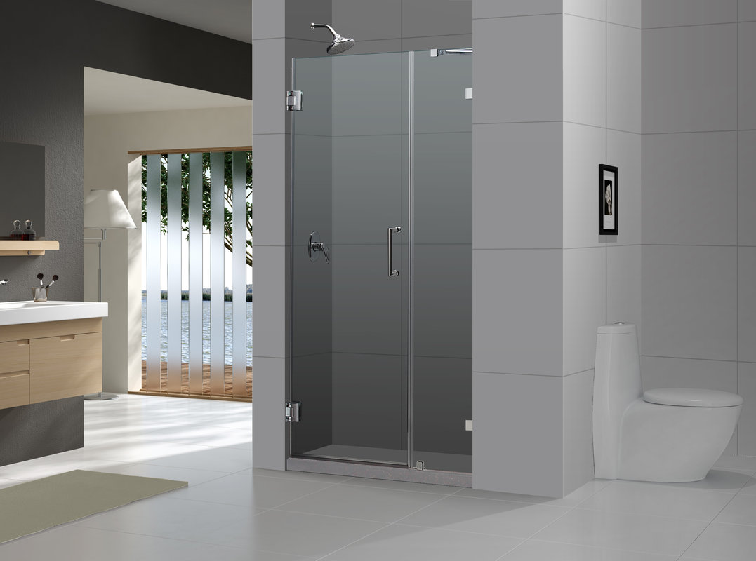 """DreamLine 72"""" X43"""" Radiance Frameless Shower Door"""