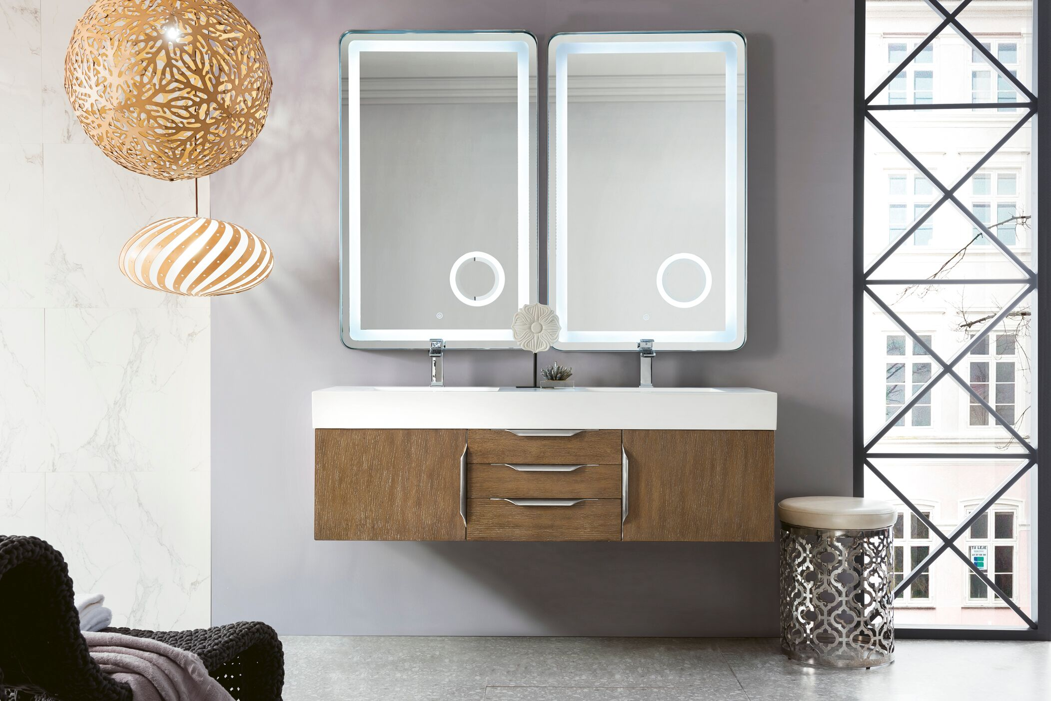 Brushed Nickel Mirror Wall Mounted Mirror Small Mirror Bathroom Mirrors For Wall 23 50 X 19 50 Framed