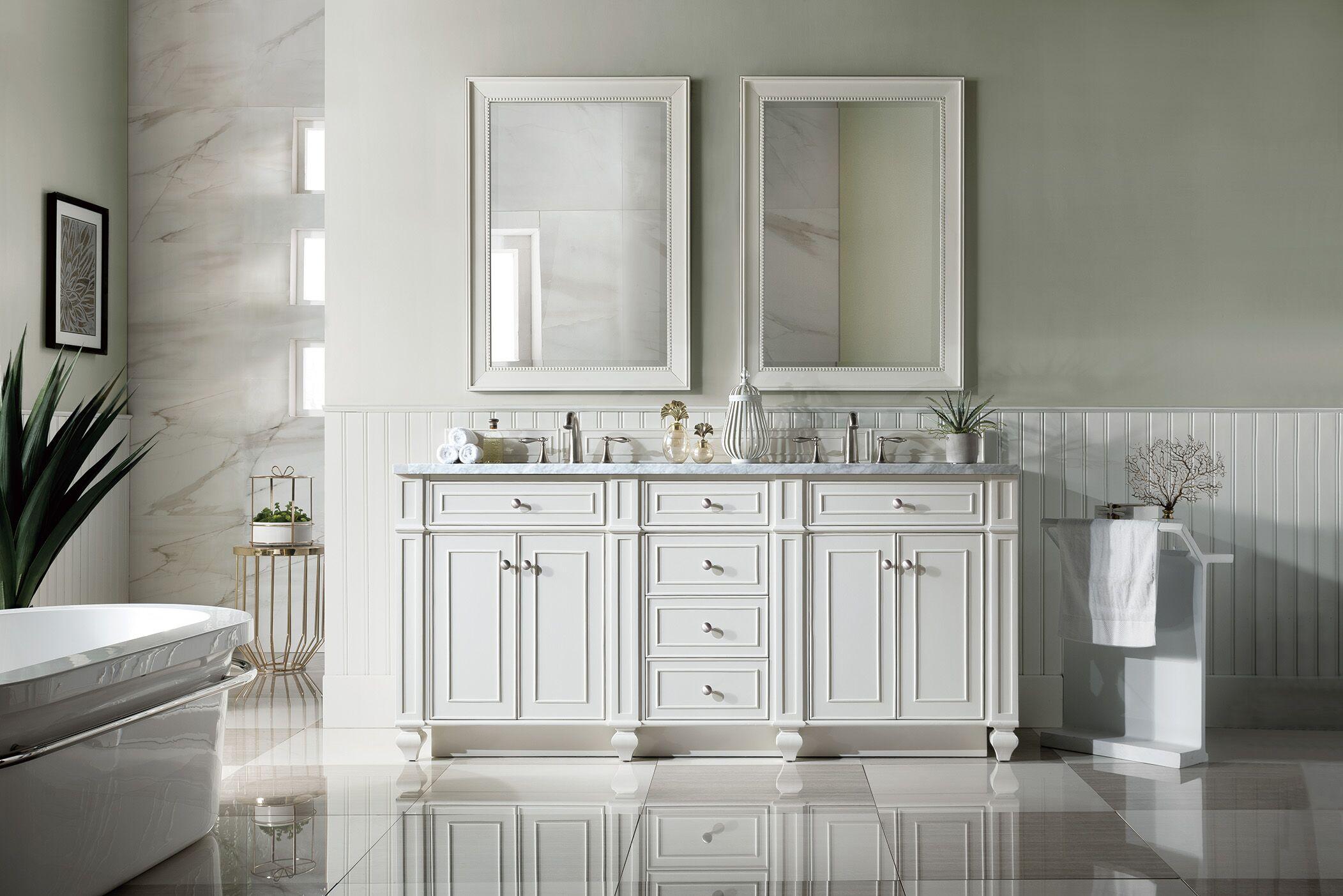 72 inch Double Sink Bathroom Vanity Cottage