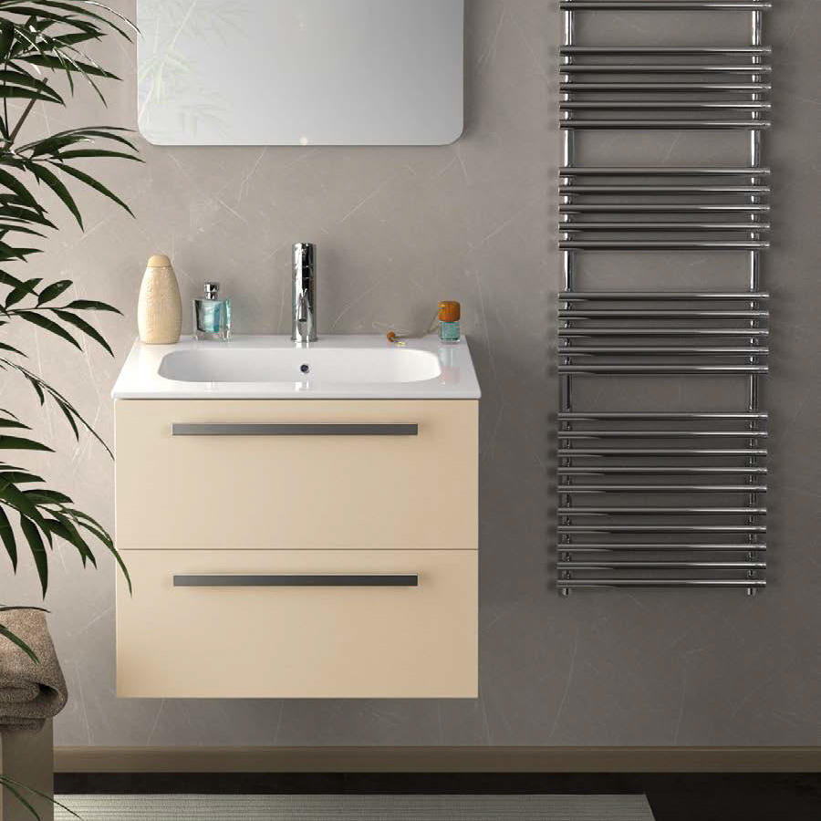 24 Inch Modern Wall Mounted Bathroom Vanity White Glossy