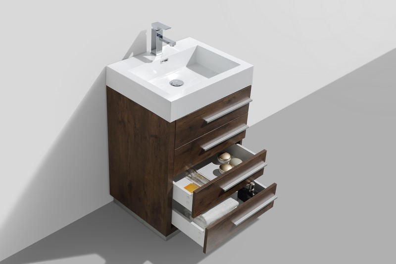 Modern Lux 24 Quot Rose Wood Modern Bathroom Vanity With Four