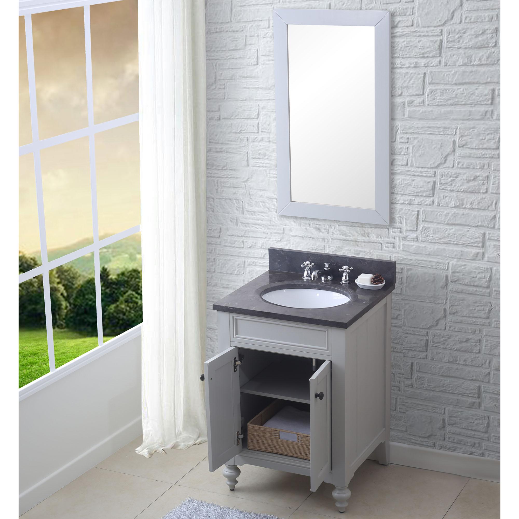 """24"""" Earl Grey Single Sink Bathroom Vanity with Blue ..."""