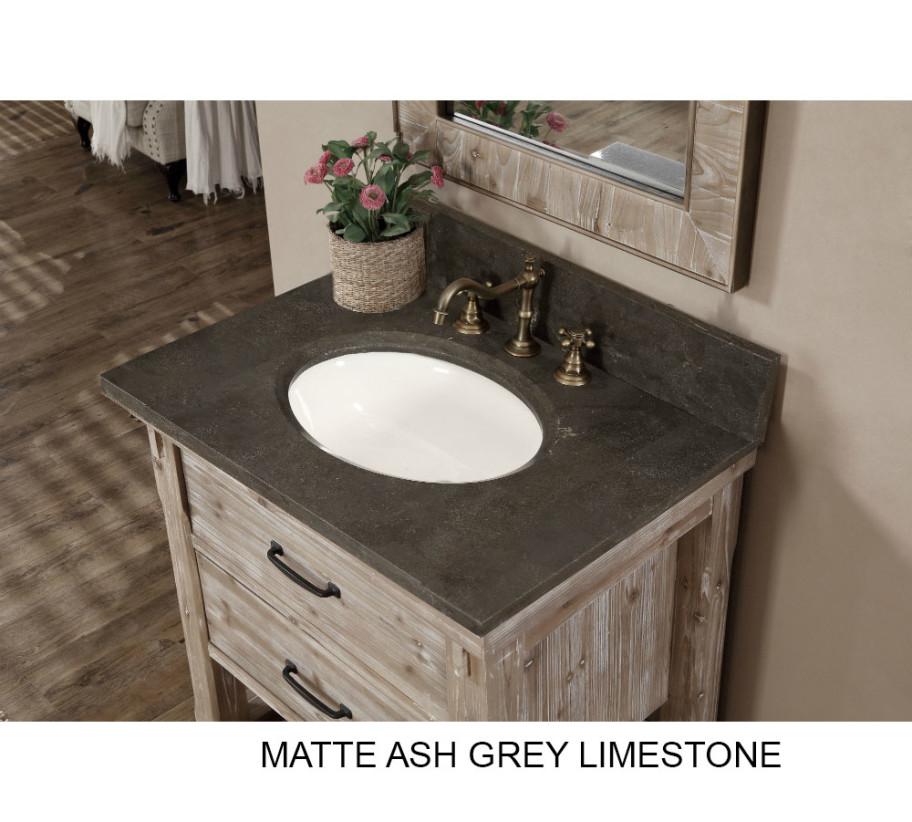Rustic Bathroom Cabinets Vanities accos 30 inch rustic bathroom vanity with matching wall mirror